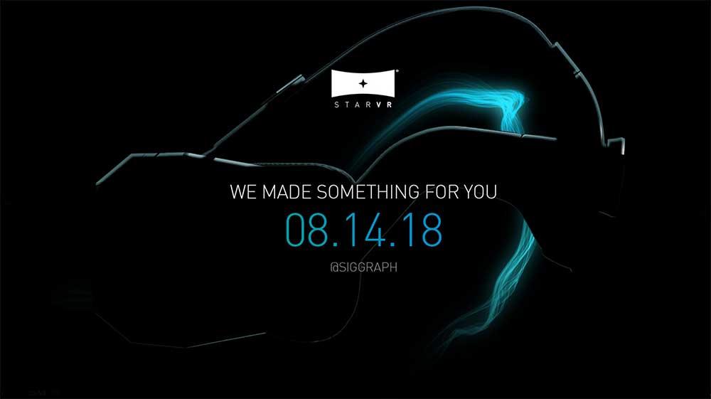 StarVR teasert neues VR-Headset für die Grafikmesse Siggraph an