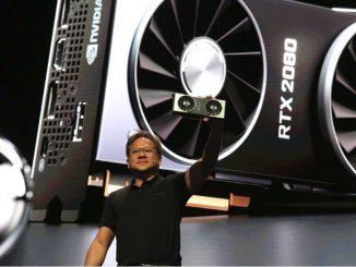 Jensen Huang präsentiert die Geforce RTX