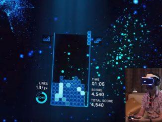 Tetris-Pro spielt Tetris Effect in VR