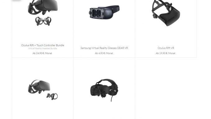 Grover vermietet VR-Brillen