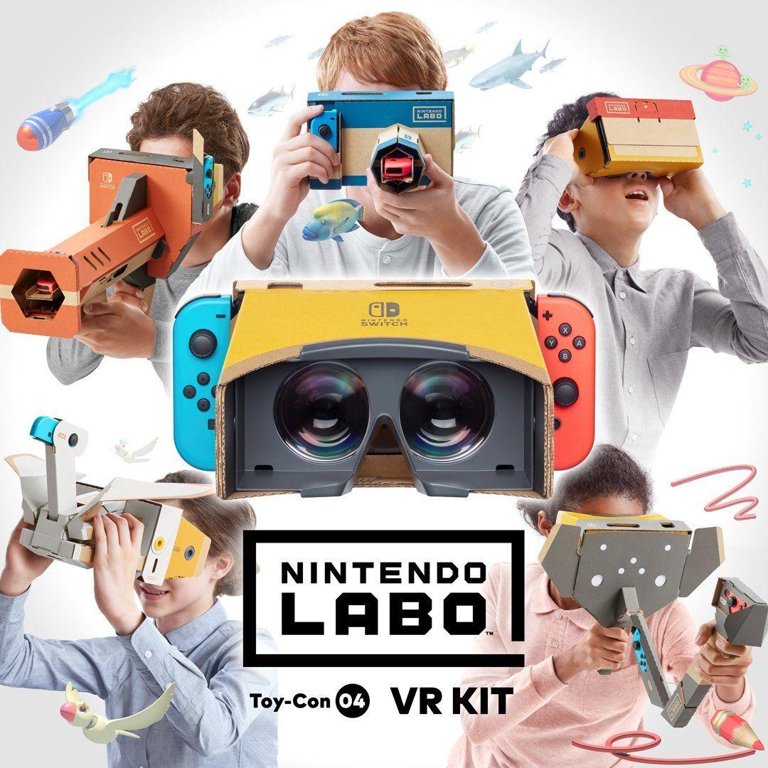 Nintendo macht das VR-Kit für die Switch offiziell.
