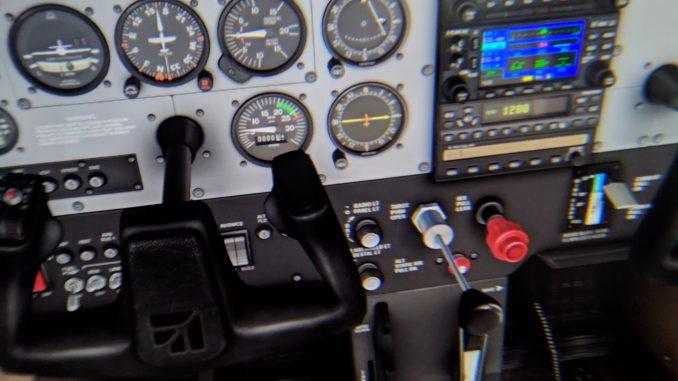 Das Cockpit in Xplane11 in der HP Reverb (Foto: MRTV)