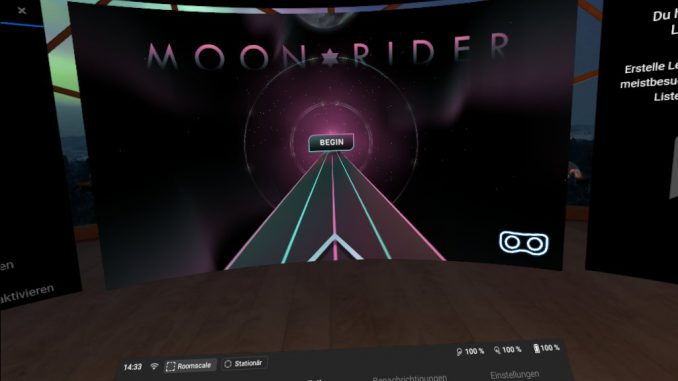 Moon Rider im Browser