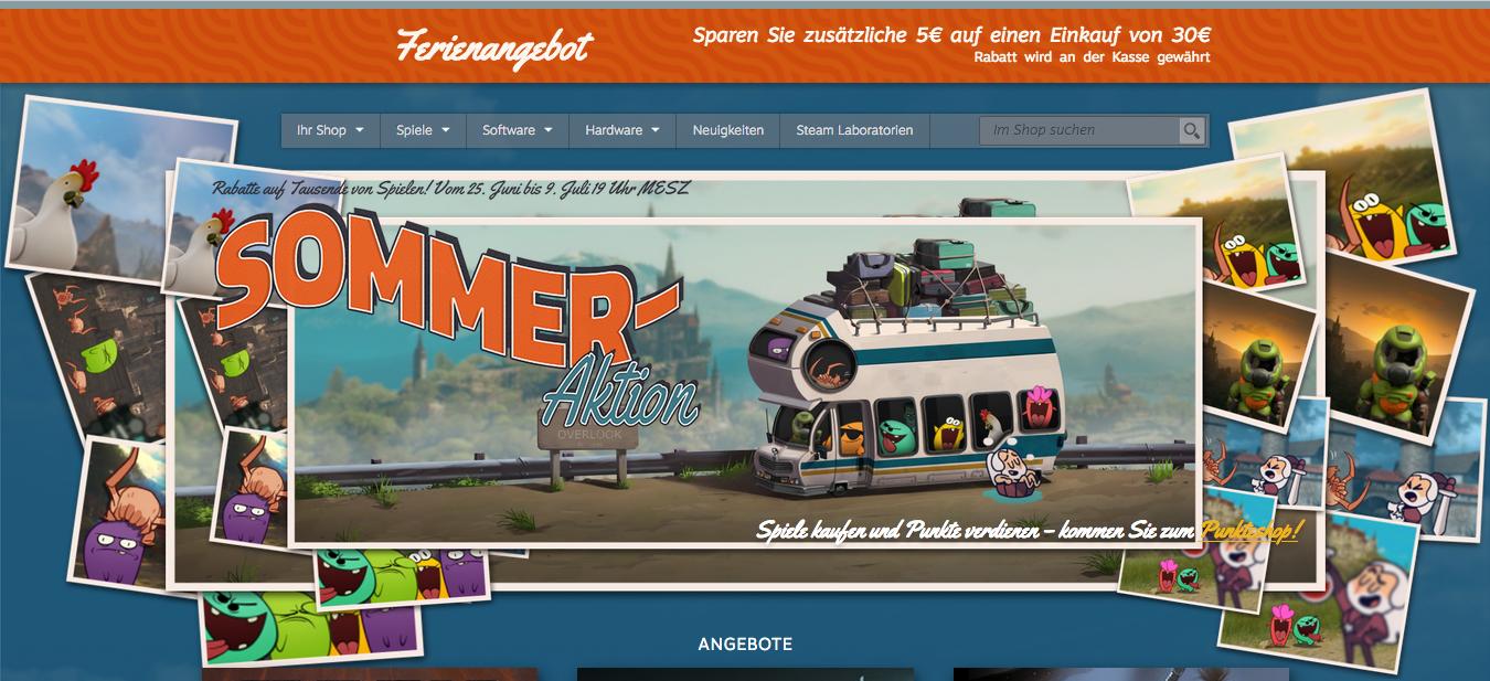 Steam Sommer Sale – Fette Rabatte mit grandiosem 5€-Bonus + Gewinnt 50 Euro Steam Guthaben! (Gewinner gezogen)