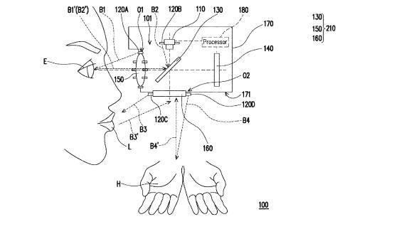 HTC Patent mit neuem Headset, was Augen- und Lippentracking unterstützen soll.