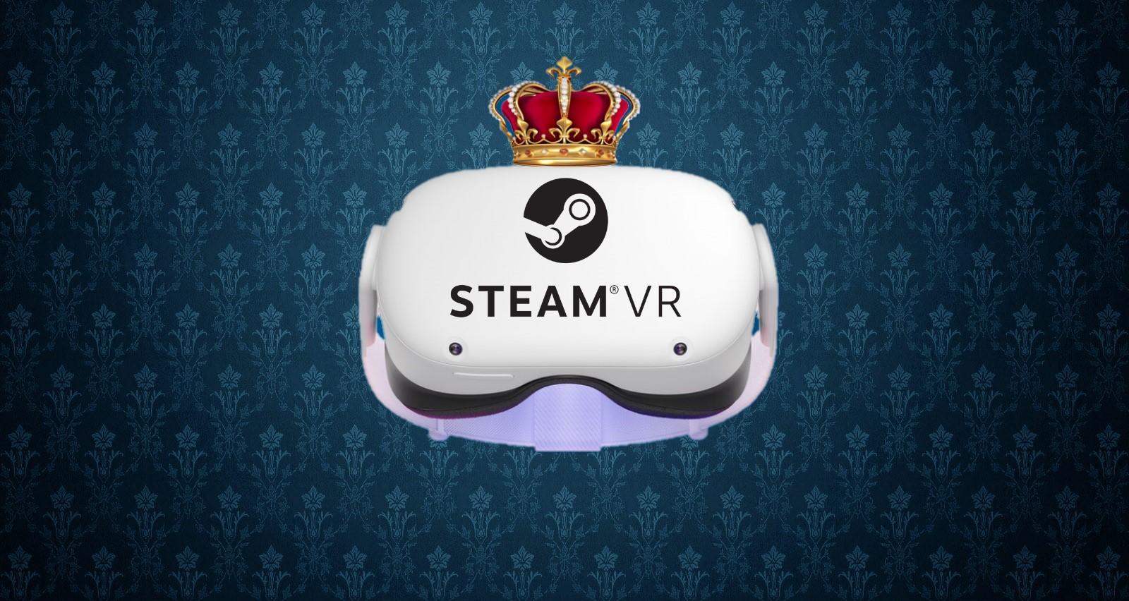2,9 Millionen verbundene VR-Headsets auf Steam. Jedes Vierte davon ist eine Quest 2.